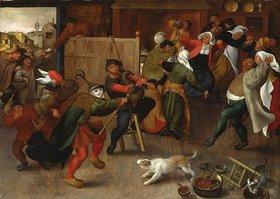 Maerten van Cleve: Singende, tanzende und trinkende Bauern