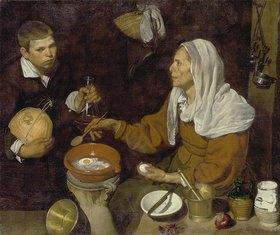 Diego Rodriguez de Velazquez: Alte Frau beim Eierkochen
