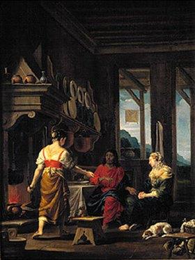 Johann Heiss: Christus im Hause von Maria und Martha
