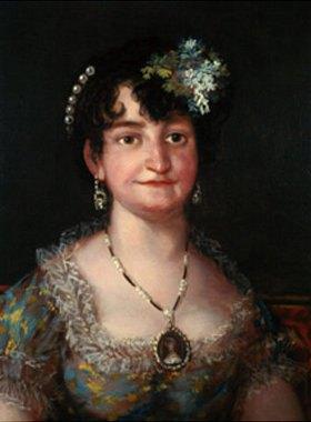 Francisco José de Goya: Die Marquesa de Caballero. 1807. Detailaufnahme: Kopf