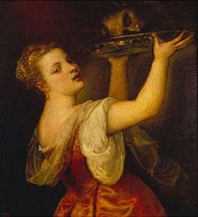 Tizian (Tiziano Vecellio): Salome mit erhobener Schale