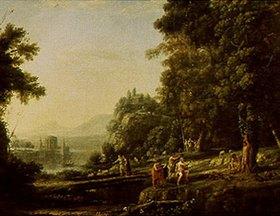 Claude Lorrain (Gellée): Landschaft mit Apollo und Marsyas