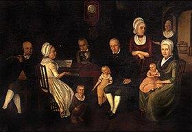 Johann Friedrich Dryander: Die Familie Bruch im Stiefel. 1798. Kopie von Berta Bruch