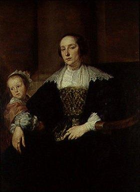Anthonis van Dyck: Bildnis der Gemahlin des Malers Theodor Rombouts(?) und ihrer Tochter