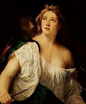 Tizian (Tiziano Vecellio): Lukrezia und Tarquinius