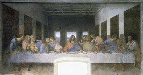 Leonardo da Vinci: Das letzte Abendmahl. 1495-1497. Aufnahme nach der Restaurierung