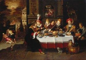 Frans Francken II.: Der reiche Mann und der arme Lazarus