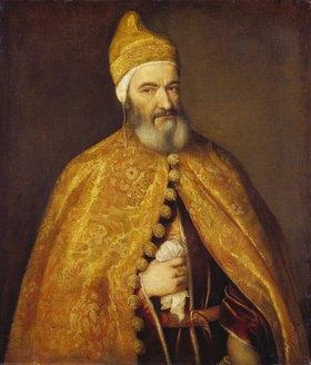 Tizian (Tiziano Vecellio): Doge Marcantonio Trevisiani, Bildnis, (1553)