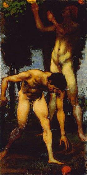 Hans von Marées: Triptychon Die Hesperiden 1884/85. (Rechte Tafel)