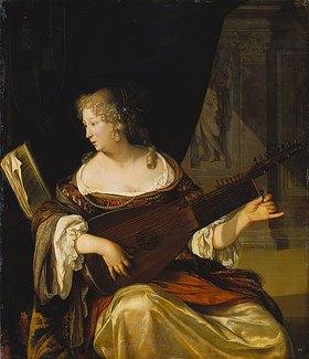 Eglon Hendrik van der Neer: Lautestimmende Dame
