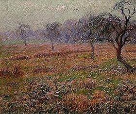 Henri Moret: Wiese mit Obstbäumen