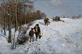 Hugo Mühlig: Heimkehr von der Winterjagd