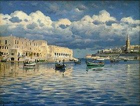 Peder Moensted: Im Hafen von Malta