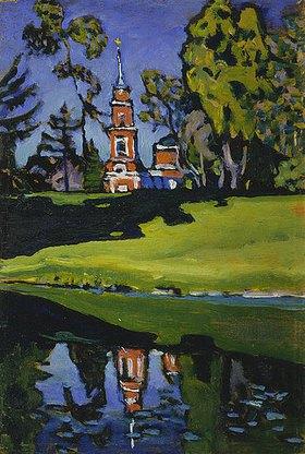 Wassily Kandinsky: Achtyrka - Rote Kirche. Vor 1908 oder 1917.