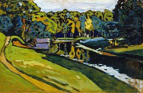 Wassily Kandinsky: Achtyrka - Schleuse im Herbst. Vor 1908 oder 1917.