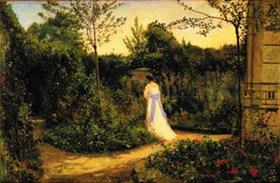 Adolph von Menzel: Der Spaziergang im Garten