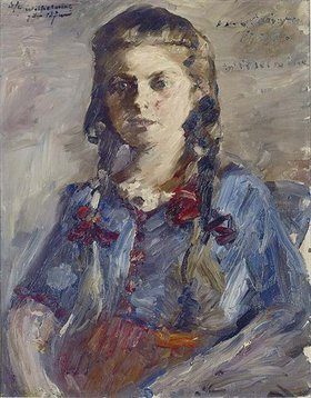 Lovis Corinth: Wilhelmine mit Zöpfen