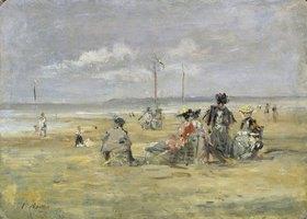 Eugène Boudin: Am Strand von Trouville
