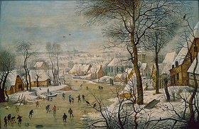 Pieter Brueghel d.J.: Winterlandschaft mit Vogelfalle