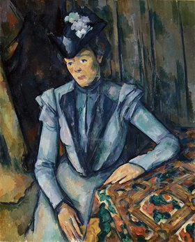 Paul Cézanne: Dame in blau