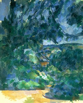 Paul Cézanne: Blaue Landschaft. Zwischen 1904 und