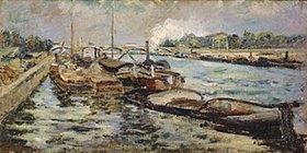 Jean-Baptiste Armand Guillaumin: Lastkähne auf der Seine