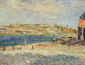 Alfred Sisley: Ufer des Flusses Loing in Saint-Mammes