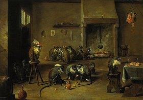 David Teniers: Affen in der Küche