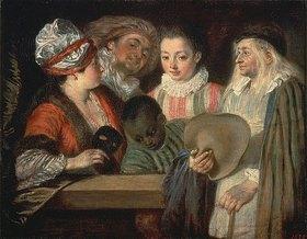 Jean Antoine Watteau: Schauspieler der französischen Komödie