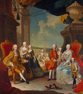 Martin Mytens (Meytens) d.J.: Maria Theresia im Kreise ihrer Familie