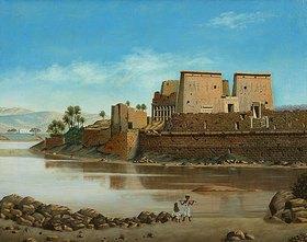 Anonym: Nil-Landschaft (bei Assuan?)