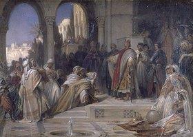 Arthur Georg Frhr.v Ramberg: Empfang einer arabischen Gesandtschaft am Hof Kaiser Friedrichs II.in Palermo