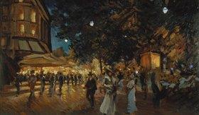 Alexejew. Konstantin Korovin: Nächtliche Pariser Strassenszene