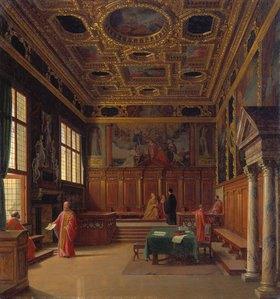 Heinrich Hansen: Ratssaal im Dogenpalast zu Venedig
