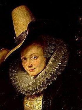 Peter Paul Rubens: Rubens und Isabella Brant in der Geiß- blattlaube. Detail: Kopf der Isabella