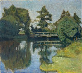 Otto Modersohn: Die Wümmebrücke. 1917/1918(?)