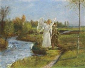 Fritz von Uhde: Tobias mit dem Engel