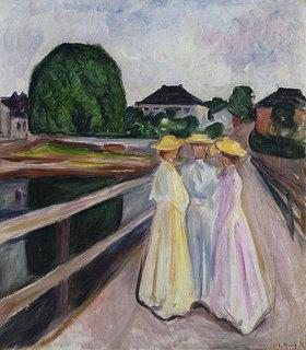 Edvard Munch: Drei Mädchen auf der Brücke