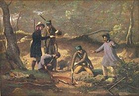 Jean-Baptiste Camille Corot: Die Jagd auf den Fuchs