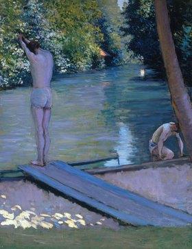 Gustave Caillebotte: Badende am Ufer des Flusses Yerres