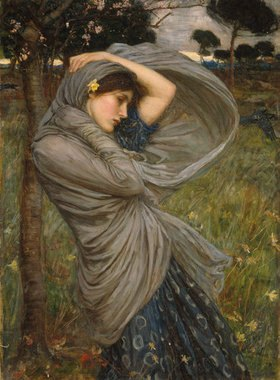 John William Waterhouse: Boreas. (Personifikation des winterlichen Nordwindes)