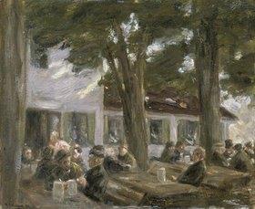 Max Liebermann: Biergarten zu Brannenburg