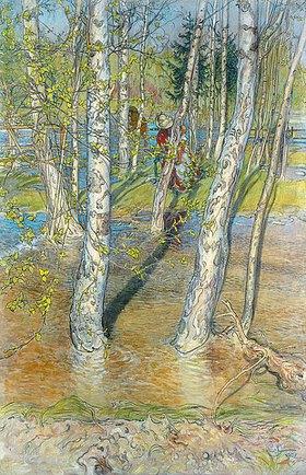 Carl Larsson: Überschwemmung