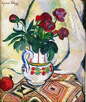 Suzanne Valadon: Rosenstrauss in weisser Vase