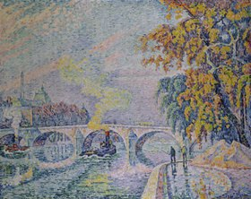 Paul Signac: Pont Royal in Paris im Herbst