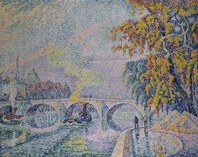 Paul Signac: Pont Royal in Paris im Herbst