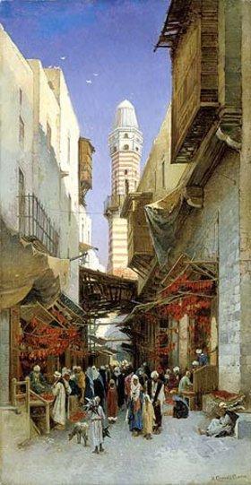 Hermann David Salomon Corrodi: Ein ägyptischer Bazar