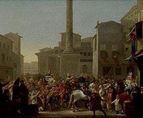 Johannes Lingelbach: Karneval in Rom. Nach