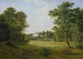 Frederik Christian Kiaerskou: Dänische Landschaft mit kleinem Schloss