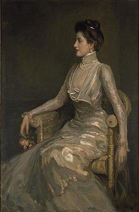 Sir John Lavery: Dame mit Perlenschmuck